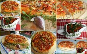 Jesienna pizza ze świeżymi ziołami. Wykonanie i foto: Edyta Molińska